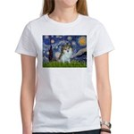 Starry Night /Pomeranian (p) Women's T-Shirt