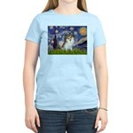 Starry Night /Pomeranian (p) Women's Light T-Shirt