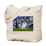 Starry Night /Pomeranian (p) Tote Bag