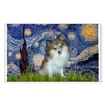 Starry Night /Pomeranian (p) Sticker (Rectangle)