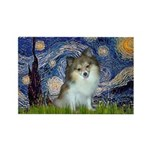 Starry Night /Pomeranian (p) Rectangle Magnet