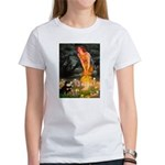 Fairies / Pomeranian (b&t) Women's T-Shirt