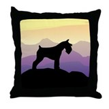 Purple Mt. Mini Schnauzer Throw Pillow