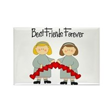 BFF Hearts-Best Friends Rectangle Magnet