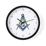 Masonic Square and Compasses Wall Clock