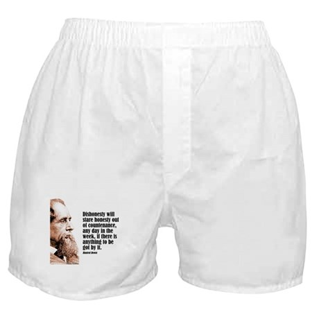 "Dickens ""Dishonesty"" Boxer Shorts"