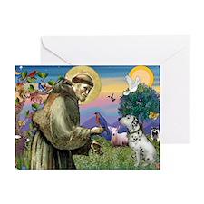 Francis / Dalmation Greeting Cards (Pk of 10)