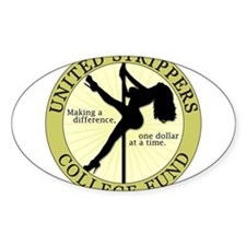Strippers College Fund Oval Decal