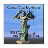Close the Borders Tile Coaster