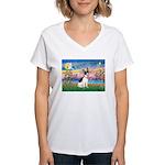 Guardian /Rat Terrier Women's V-Neck T-Shirt
