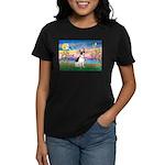 Guardian /Rat Terrier Women's Dark T-Shirt