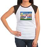 Guardian /Rat Terrier Women's Cap Sleeve T-Shirt