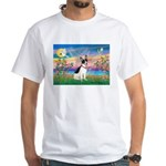 Guardian /Rat Terrier White T-Shirt