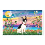 Guardian /Rat Terrier Rectangle Sticker