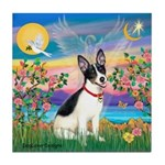 Guardian /Rat Terrier Tile Coaster