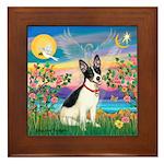 Guardian /Rat Terrier Framed Tile