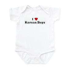 I Love Korean Boys Infant Bodysuit