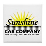 Sunshine Cab Co Tile Coaster