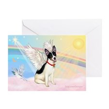 Clouds / Rat Terrier Greeting Card