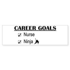 Nurse Career Goals Bumper Stickers