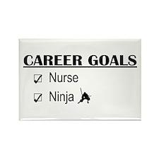 Nurse Career Goals Rectangle Magnet