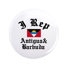"I rep Antigua and Barbuda 3.5"" Button"