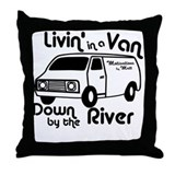 Livin in a Van Throw Pillow