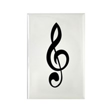 Treble Clef Rectangle Magnet (10 pack)