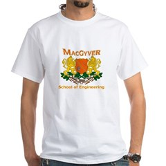 MacGyver Engineering White T-Shirt