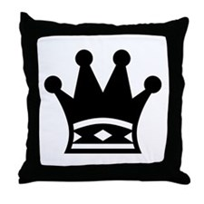 Throw Pillow - Black Queen