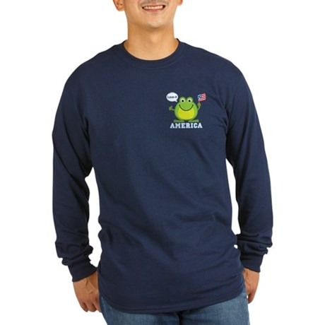 America, Love-it: Long Sleeve Dark T-Shirt