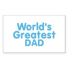 Worlds Greatest DAD Rectangle Decal