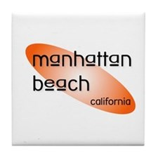 Manhattan Beach, California Tile Coaster
