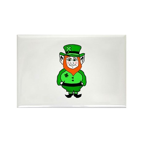 Happy Leprechaun Rectangle Magnet (10 pack)