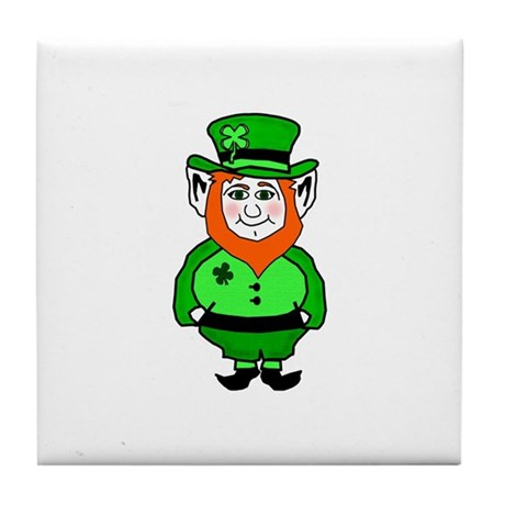 Happy Leprechaun Tile Coaster
