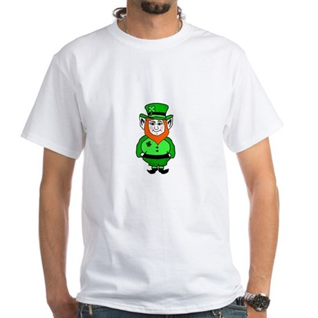 Happy Leprechaun White T-Shirt