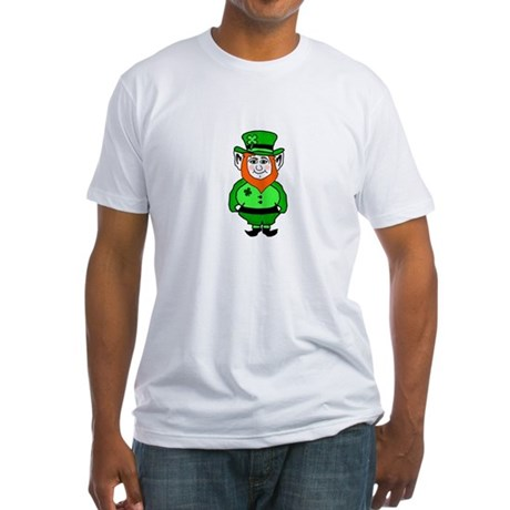 Happy Leprechaun Fitted T-Shirt
