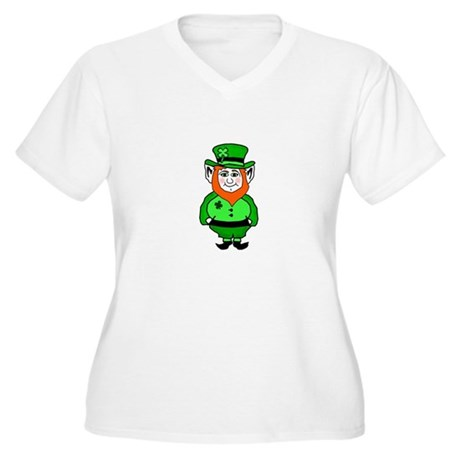 Happy Leprechaun Women's Plus Size V-Neck T-Shirt
