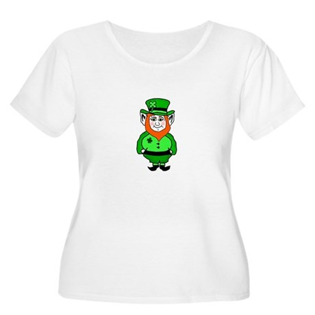 Happy Leprechaun Women's Plus Size Scoop Neck T-Sh