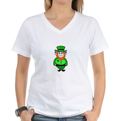 Happy Leprechaun Women's V-Neck T-Shirt