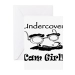 Undercover Cam Girl Greeting Cards (Pk of 20)