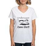 Undercover Cam Girl Women's V-Neck T-Shirt