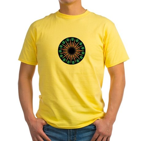 Kaleidoscope 003 Yellow T-Shirt