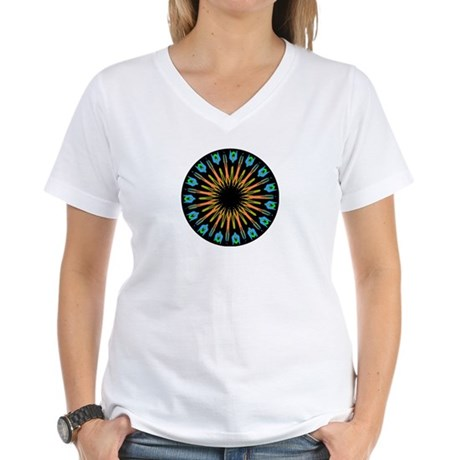Kaleidoscope 003 Women's V-Neck T-Shirt