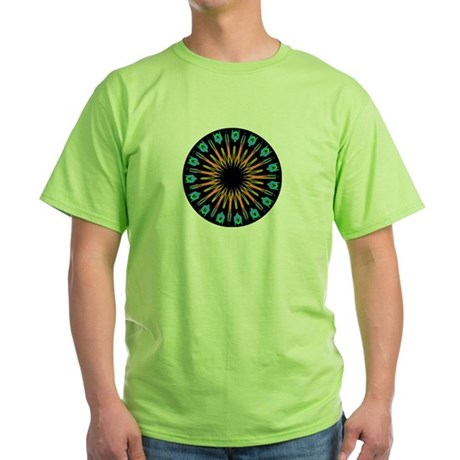 Kaleidoscope 003 Green T-Shirt