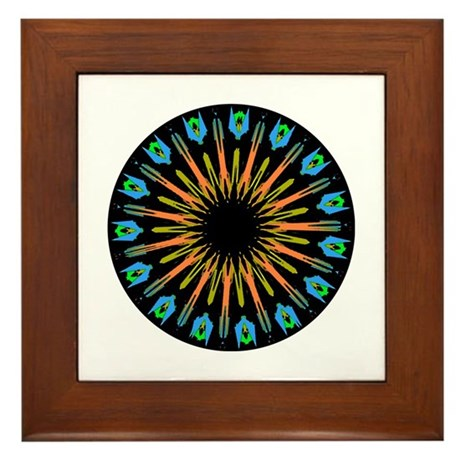 Kaleidoscope 003 Framed Tile