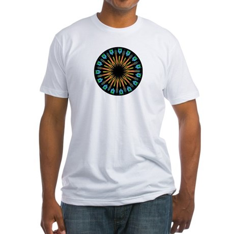 Kaleidoscope 003 Fitted T-Shirt