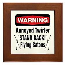 Warning Annoyed Twirler Framed Tile