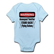 Warning Annoyed Twirler Infant Bodysuit