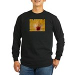 Sunflower Dove Long Sleeve Dark T-Shirt
